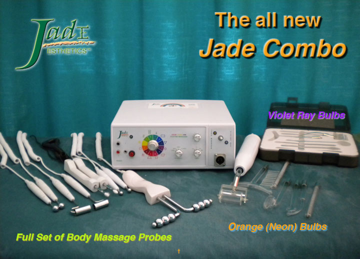 Jade Esthetics Electrodermal Massage and Tesla High Frequency machine